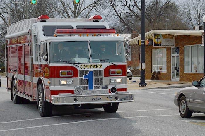 Town of Cowpens SC | Cownpens fire truck